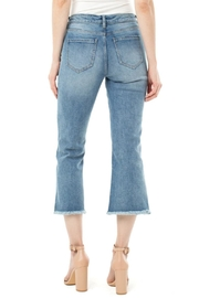 Liverpool Frayed High Waist Crop Flare Jeans - Side cropped
