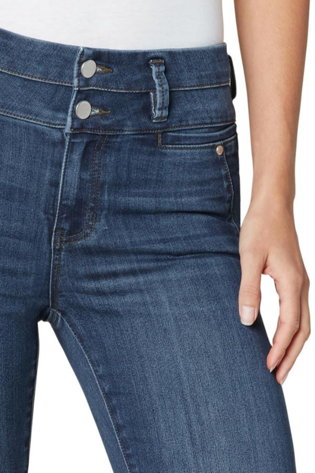 Liverpool Jean Company Liverpool Hi Rise Double Waistband Denim - Side Cropped Image