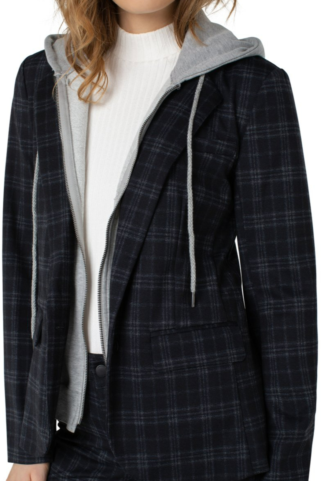 Liverpool  Blazer with Removable Hood - Front Full Image