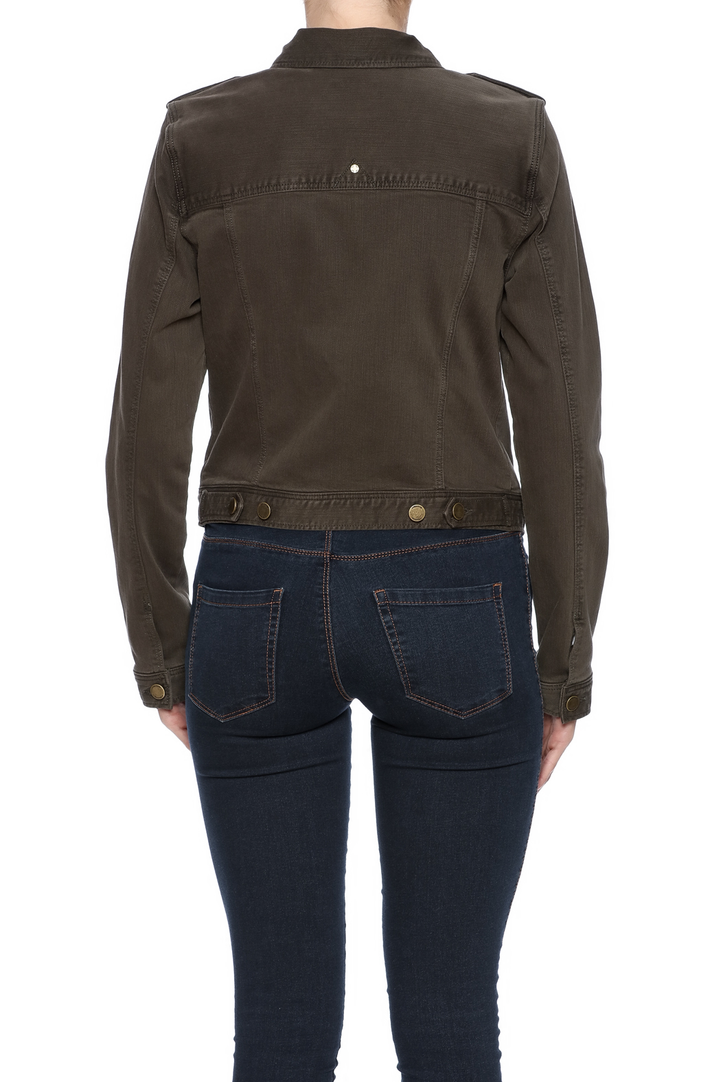 Liverpool Jean Company Cargo Jacket - Back Cropped Image