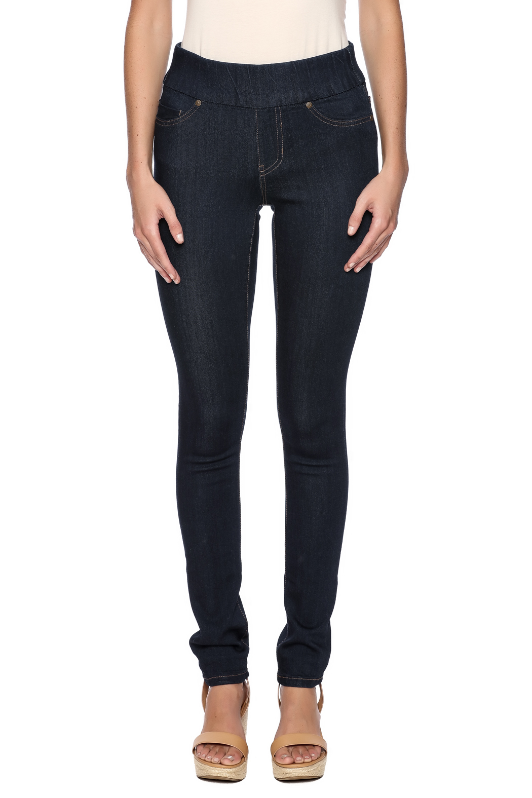 Liverpool Jeans Company Dark Indigo Sienna Jeggings - Side Cropped Image