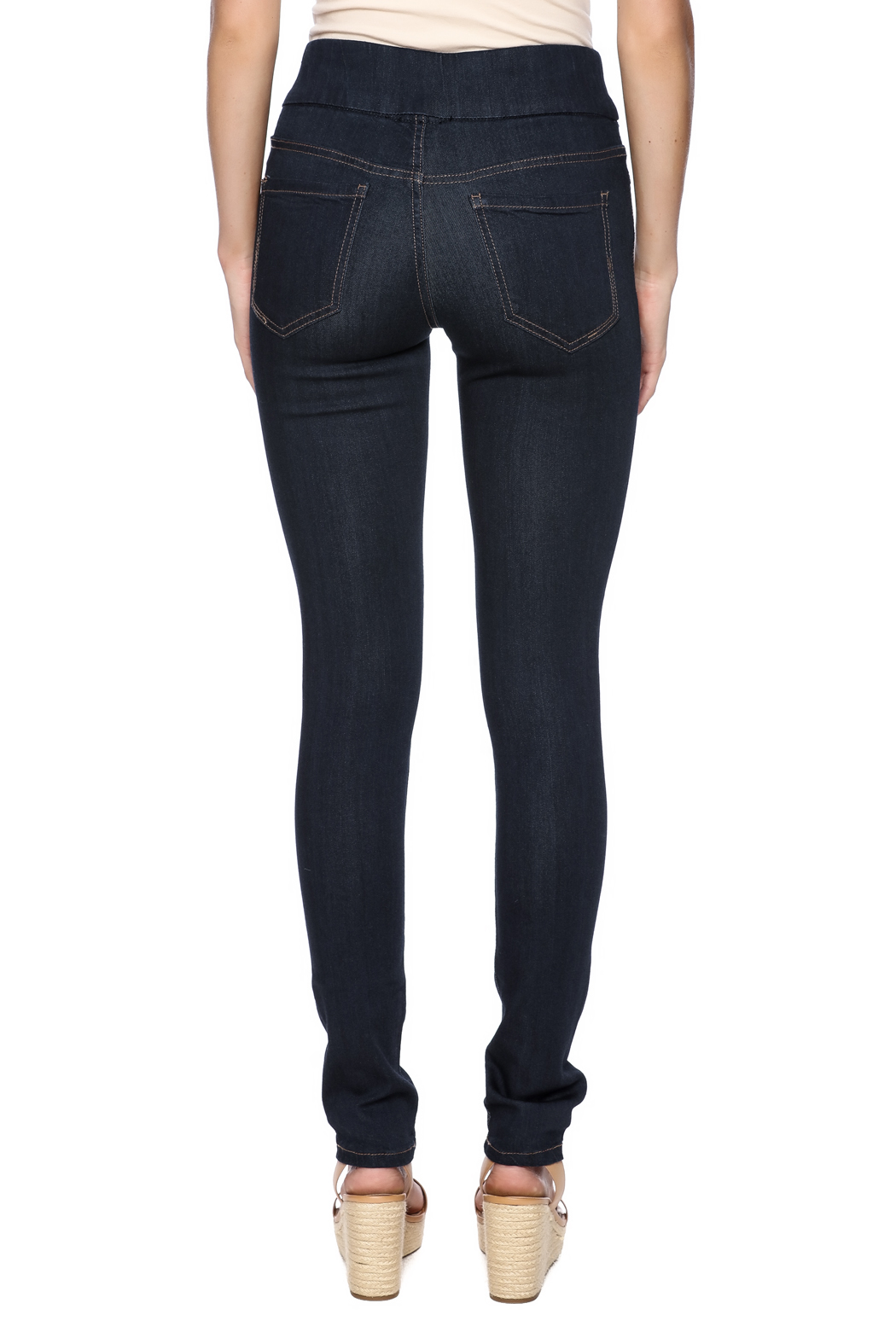 Liverpool Jeans Company Dark Indigo Sienna Jeggings - Back Cropped Image