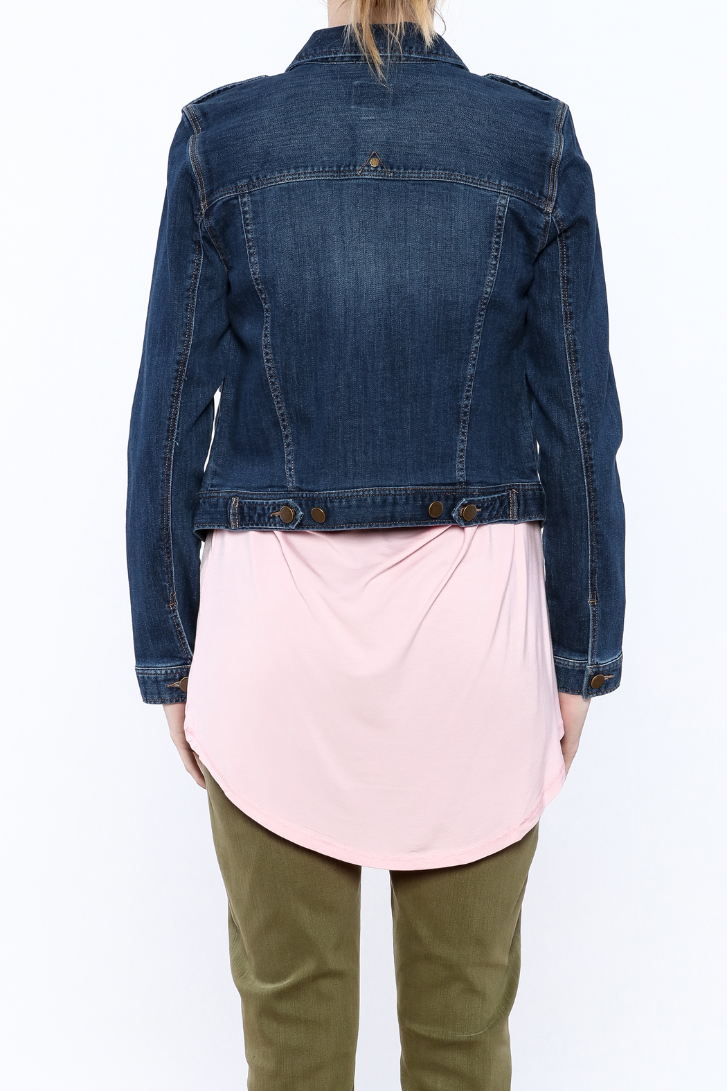 Liverpool Jeans Company Classic Denim Jacket - Back Cropped Image