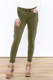 Liverpool Jeans Company Olive Cropped Jeans - Product Mini Image