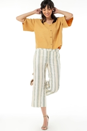 Liverpool Linen Blend Cropped Trouser - Product Mini Image