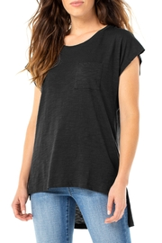 Liverpool  scoop neck short sleeve top in Black - Product Mini Image
