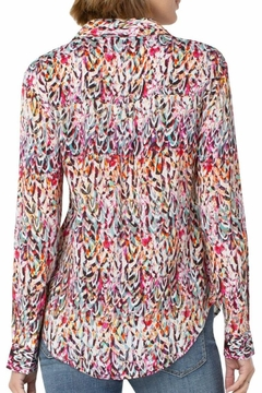 Liverpool Jean Company Abstract Feather Blouse - Alternate List Image