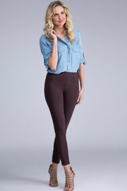 Liverpool Jean Company Aubergine Pull-On Legging - Front cropped