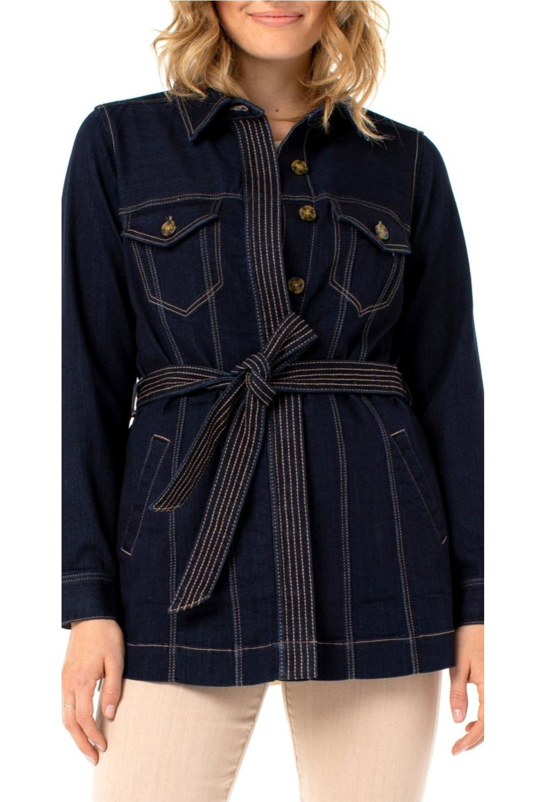 Liverpool Jean Company Belted Long Jacket - Main Image
