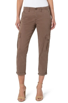 Liverpool Jean Company Cargo Crop With Cuff - Toffee Brown - Product List Image