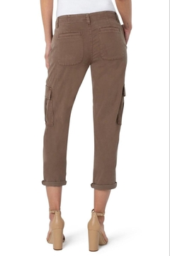 Liverpool Jean Company Cargo Crop With Cuff - Toffee Brown - Alternate List Image
