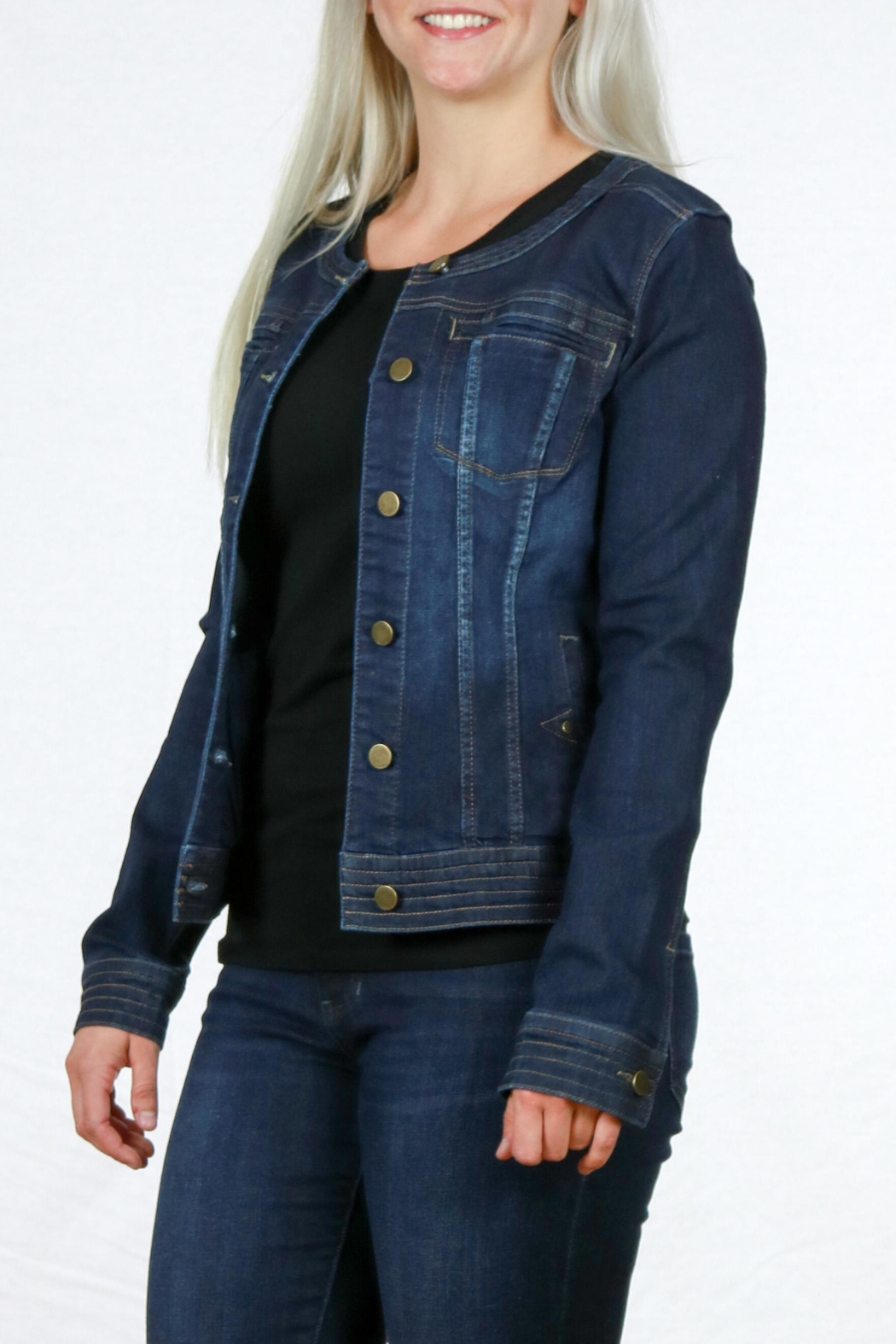 Liverpool Jean Company Cordless Denim Jacket - Back Cropped Image