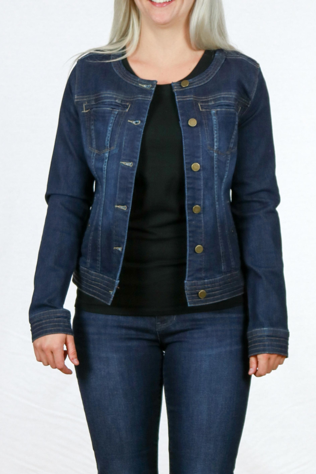 Liverpool Jean Company Cordless Denim Jacket - Front Cropped Image