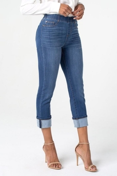 Liverpool Jean Company Cuff Crop Jeans - Alternate List Image