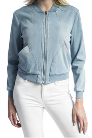 Liverpool Jean Company Denim Bomber Jacket - Front cropped
