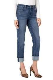 Liverpool Jean Company Distressed Crop Jeans - Product Mini Image
