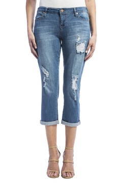 Shoptiques Product: Distressed Cropped Jeans