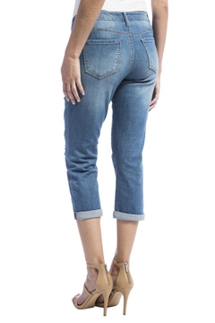 Liverpool Jean Company Distressed Cropped Jeans - Alternate List Image