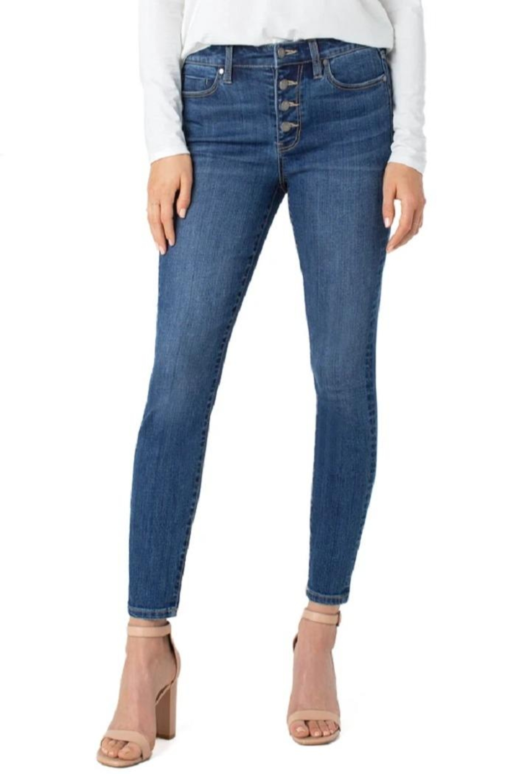 Liverpool Jean Company Eco Skinny Jeans - Front Full Image