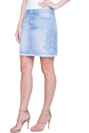 Liverpool Jean Company Embroidered Denim Skirt - Product Mini Image