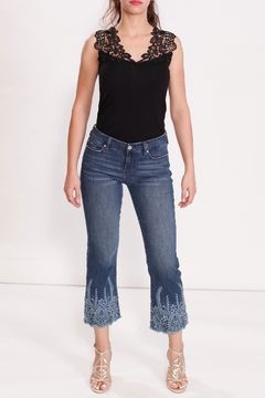 Shoptiques Product: Embroidered Tonal Jean