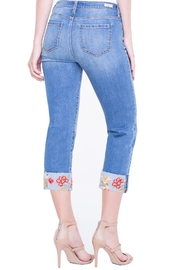 Liverpool Jean Company Floral Cuffed Jeans - Back cropped