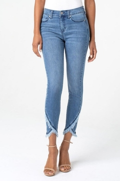 Liverpool Jean Company Frayed Crop Jeans - Alternate List Image