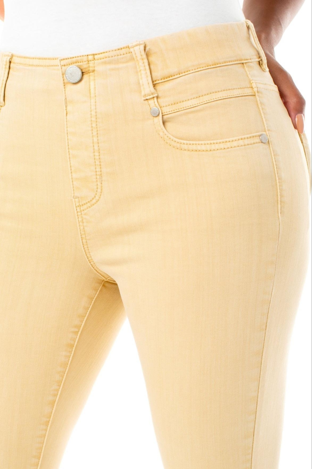 Liverpool Jean Company Gia Glider Crop - Back Cropped Image
