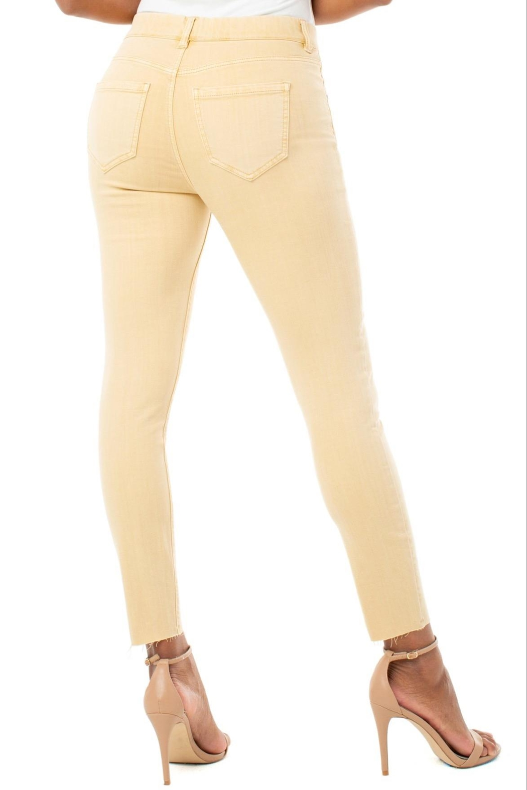 Liverpool Jean Company Gia Glider Crop - Front Full Image