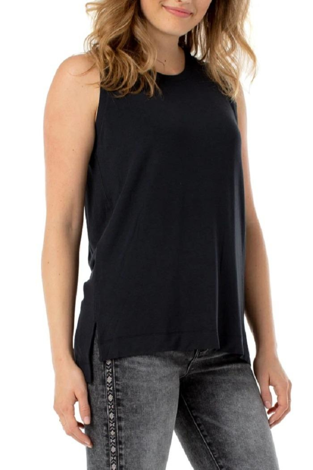 Liverpool Jean Company Jersey Sleeveless Top - Front Cropped Image