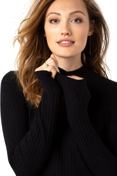 Liverpool Jean Company Mock Neck Long Sleeve Knit - Product List Image