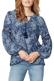 Liverpool Jean Company Piasley Tassel Blouse - Front cropped