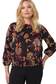 Liverpool Jean Company Puff Sleeve Top With Smocked Waistband - Product Mini Image