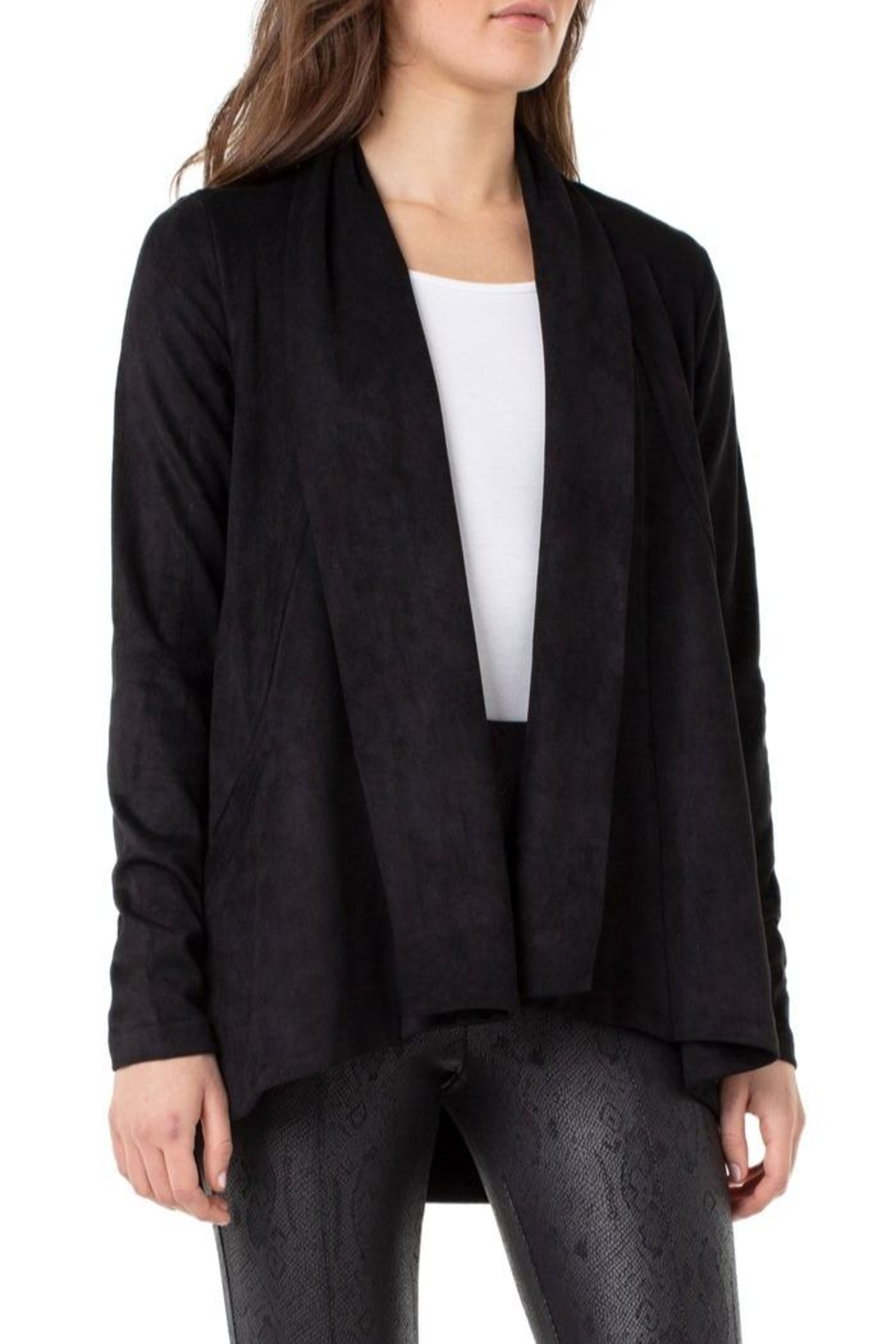 Liverpool Jean Company Shawl Double-Front Cardigan - Main Image