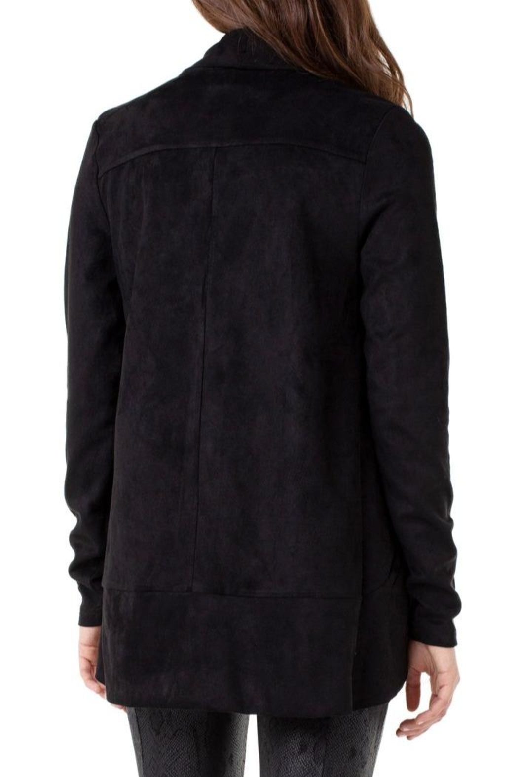 Liverpool Jean Company Shawl Double-Front Cardigan - Front Full Image