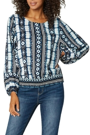 Liverpool Jean Company Sibori Smock Top - Front cropped