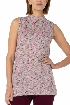 Liverpool Jean Company Speckled Sleeveless Sweater - Product List Image