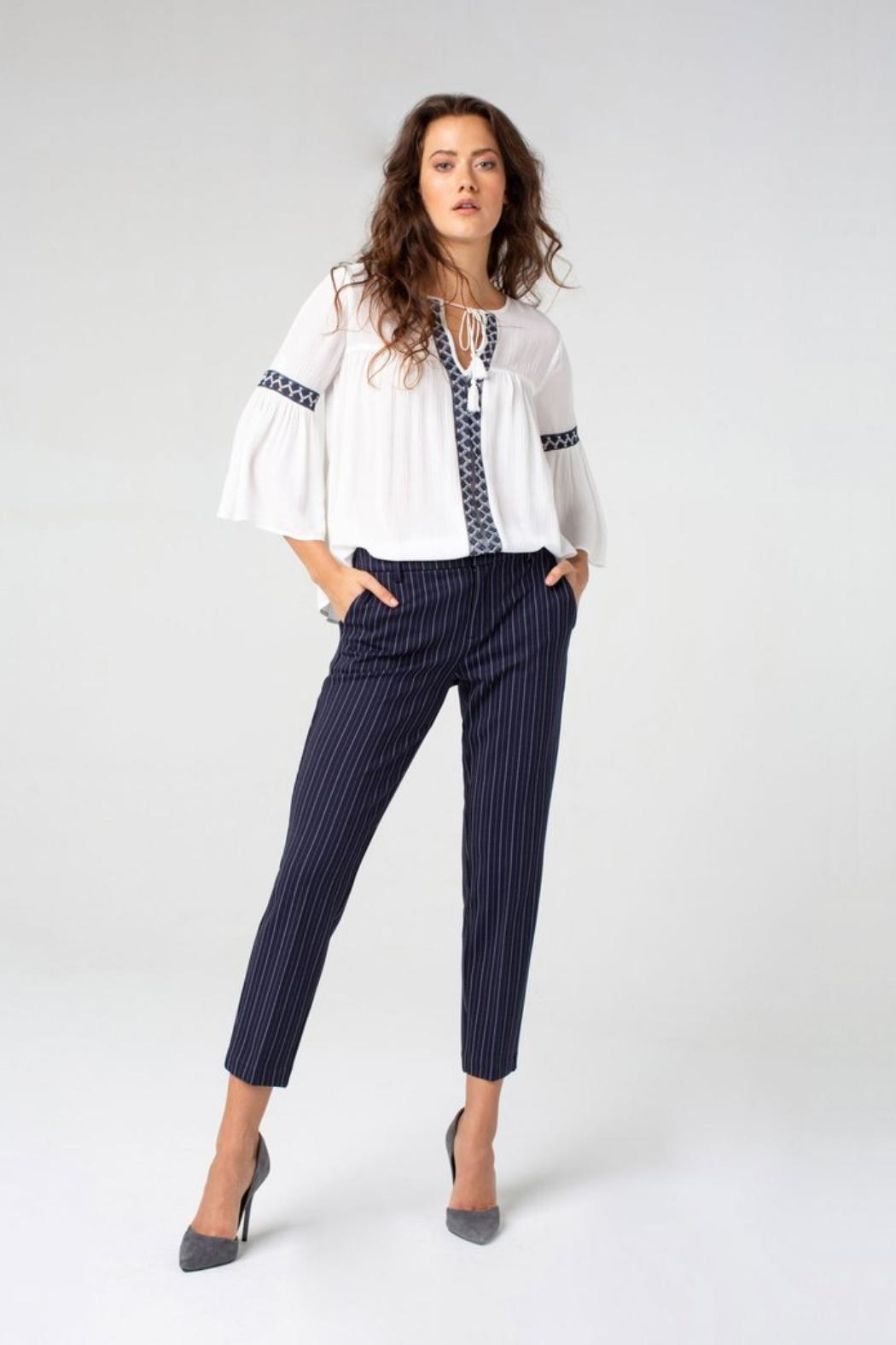 Liverpool Jean Company Stripe Knit Trouser - Side Cropped Image