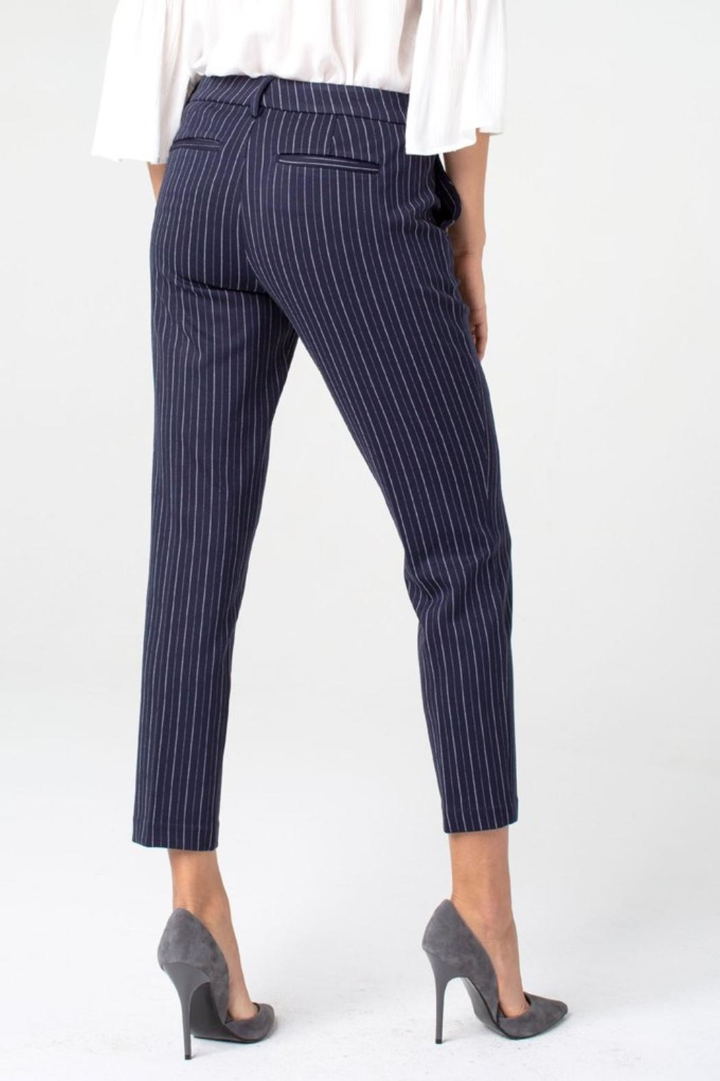 Liverpool Jean Company Stripe Knit Trouser - Front Full Image
