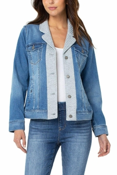 Liverpool Jean Company Trucker Jacket With Knit Insert - Product List Image