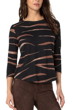 Liverpool Jean Company Wavy Stripe Knit Top - Product List Image