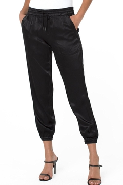 Liverpool Jean Company Woven Sateen Cropped Jogger - Product List Image