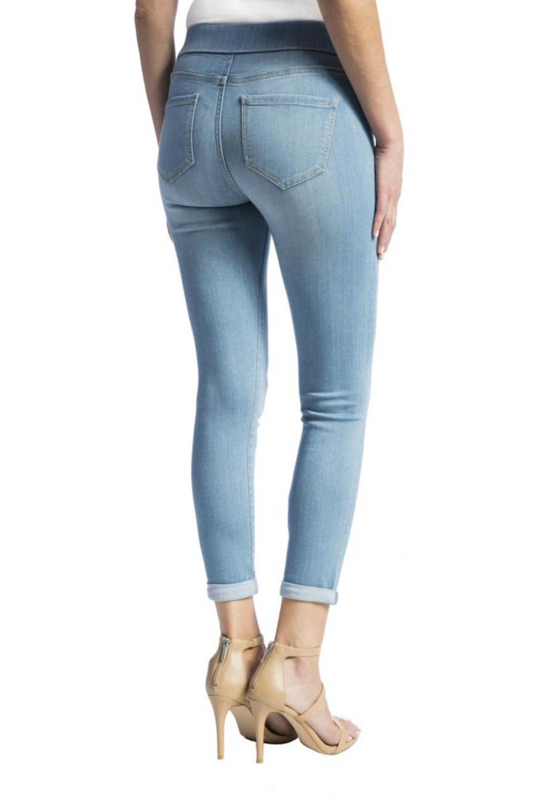 Liverpool Jeans Company Cropped Pull-On Jeans - Side Cropped Image