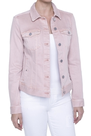 Liverpool Jeans Company Denim Jacket - Blush - Product Mini Image