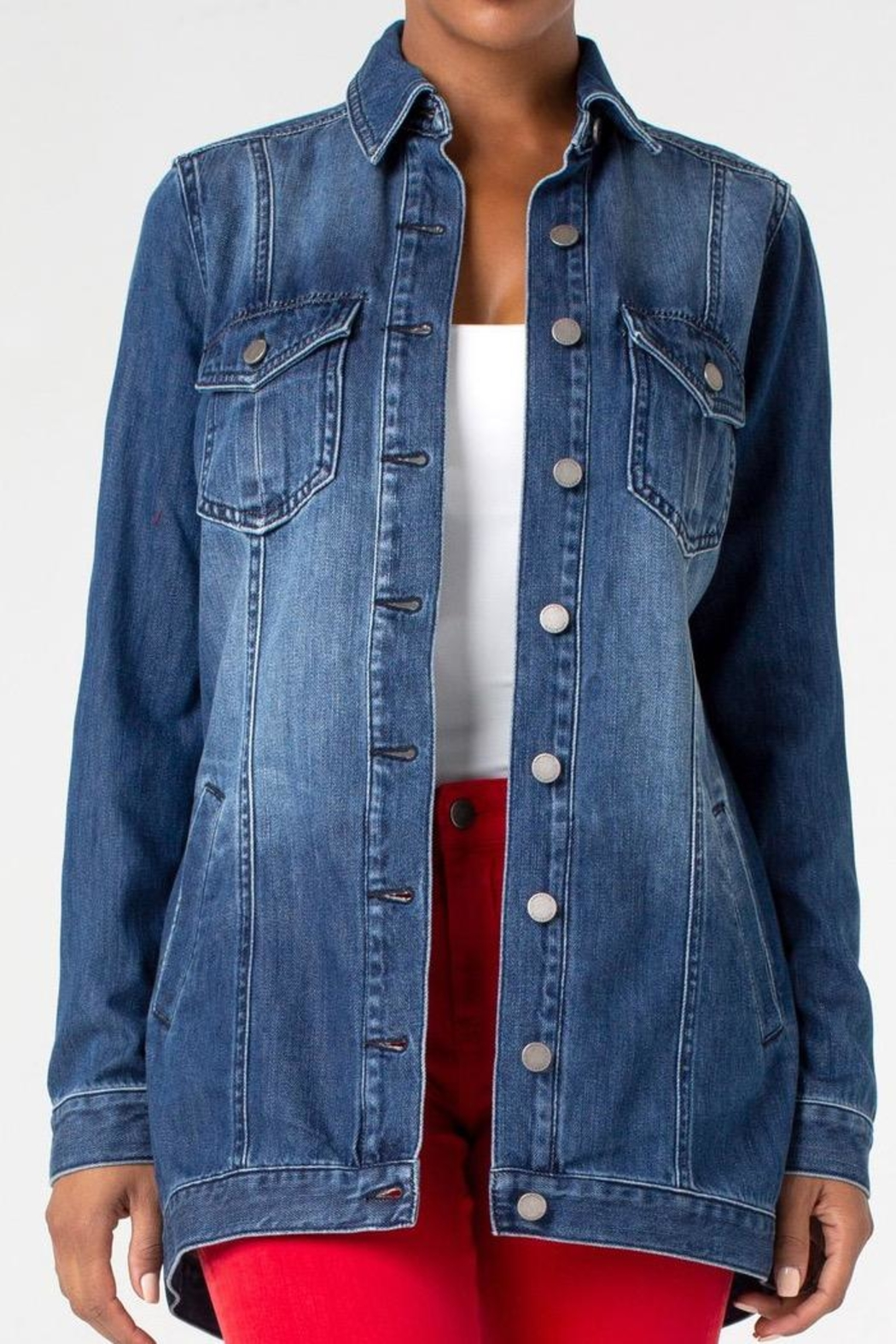 Liverpool Jeans Company Denim Shirt Jacket - Front Cropped Image