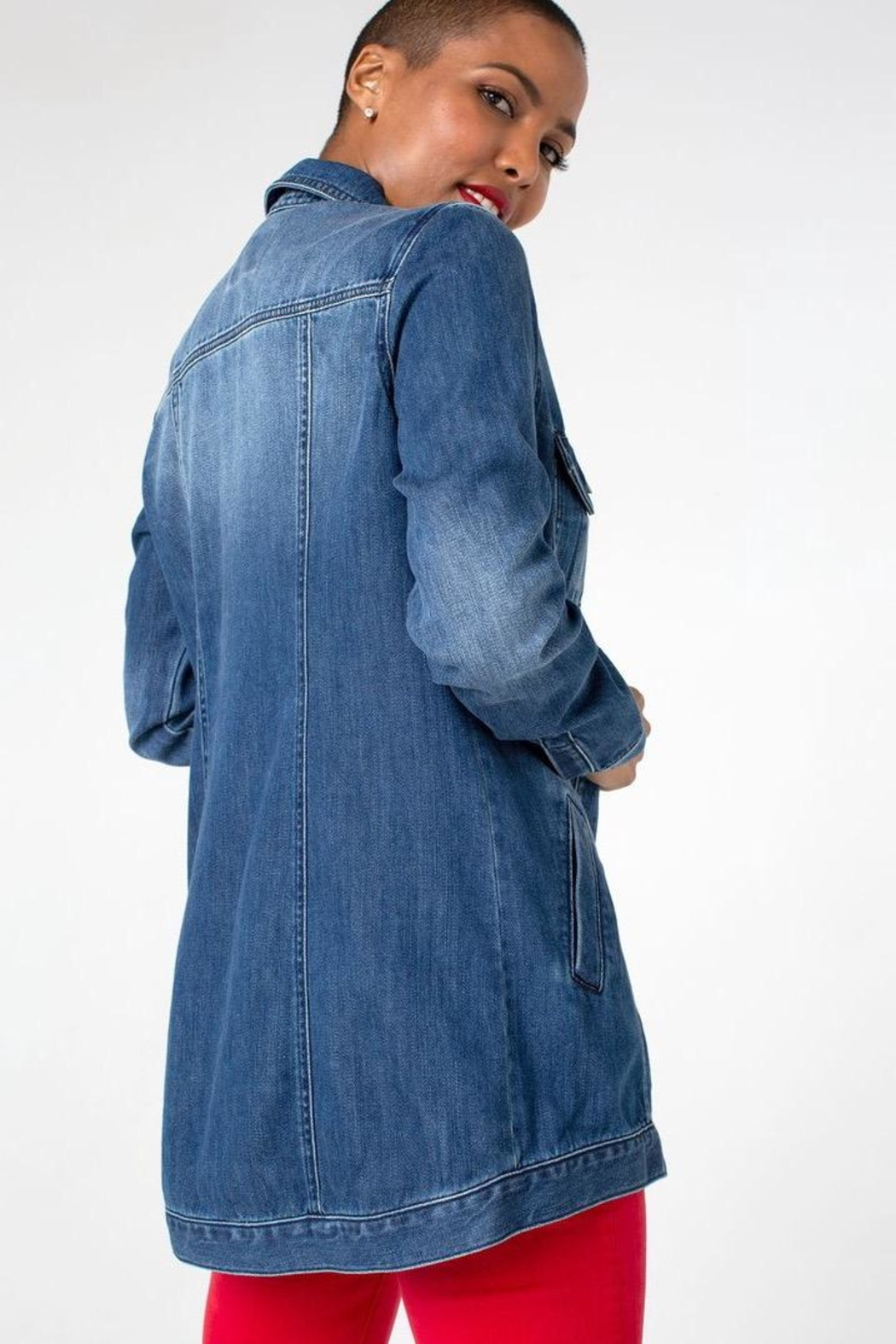 Liverpool Jeans Company Denim Shirt Jacket - Front Full Image