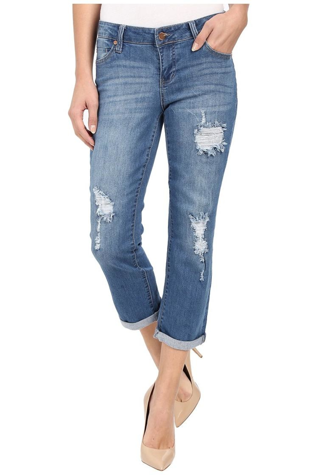 Liverpool Jeans Company Distressed Boyfriend Jeans - Main Image
