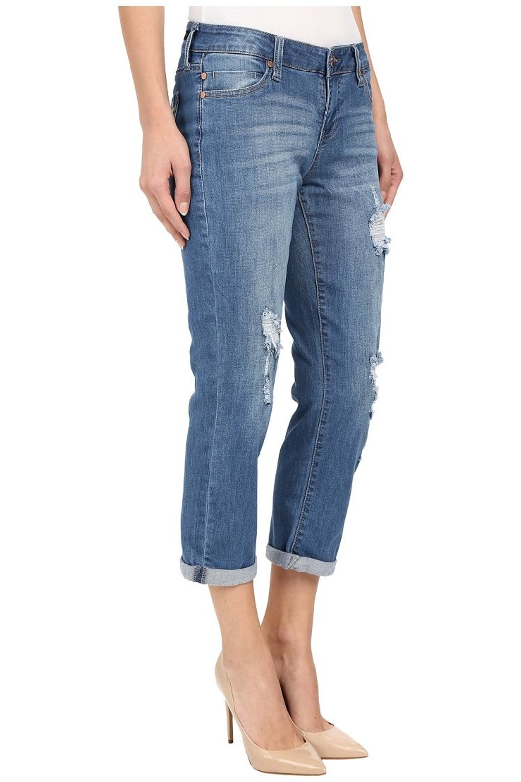Liverpool Jeans Company Distressed Boyfriend Jeans - Side Cropped Image