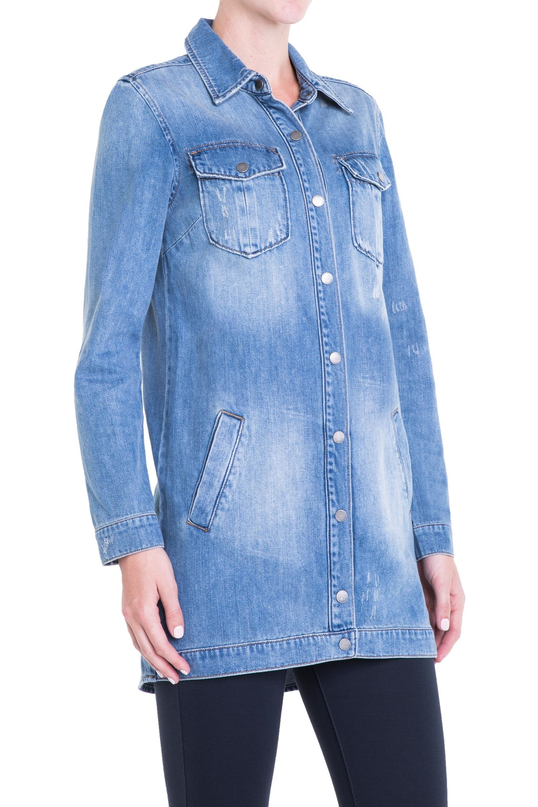 Liverpool Jeans Company Long Denim Jacket - Side Cropped Image