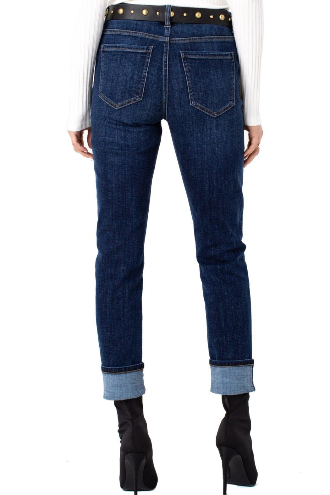 Liverpool Jeans Company Marley Girlfriend Cuffed With Belt Jeans - Side Cropped Image